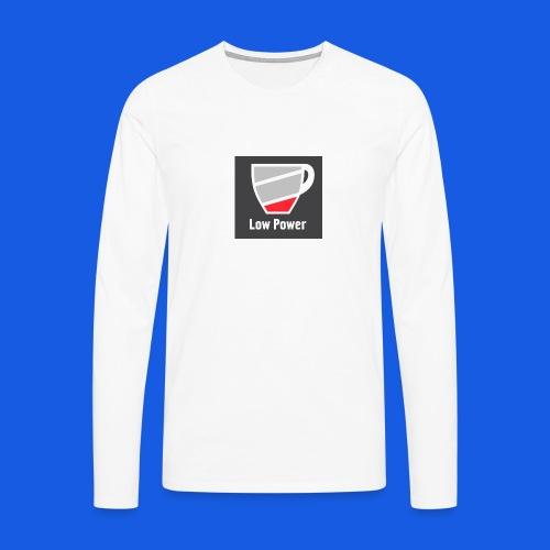 Low power need refill - Herre premium T-shirt med lange ærmer