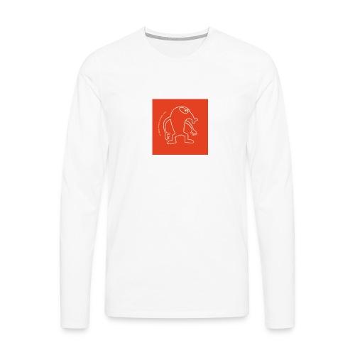 button vektor rot - Männer Premium Langarmshirt