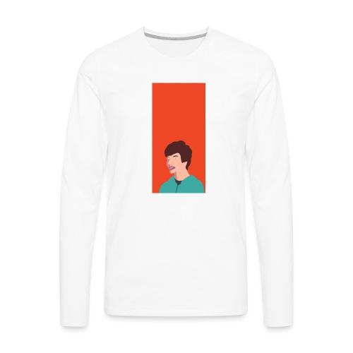 Aron Deksel v.2 6/6S Plus - Premium langermet T-skjorte for menn