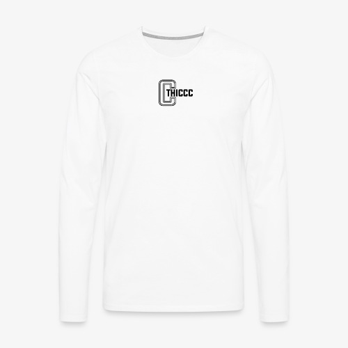 thiccc logo WHITE and BLACK - Men's Premium Longsleeve Shirt