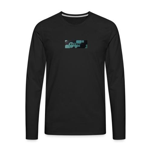Extinct box logo - Men's Premium Longsleeve Shirt
