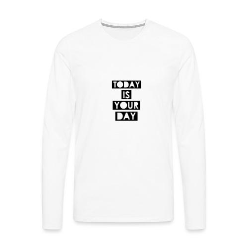 Official Design Kompas Today is your day - Mannen Premium shirt met lange mouwen