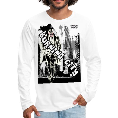 Burnig City - Camiseta de manga larga premium hombre
