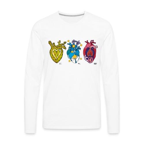 Corazones Prestados - Camiseta de manga larga premium hombre