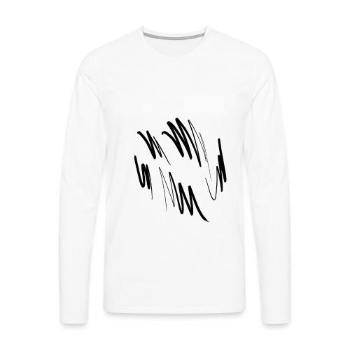 doodle png - Herre premium T-shirt med lange ærmer