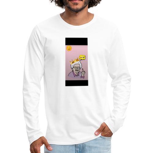 Crazy Grandma - Männer Premium Langarmshirt