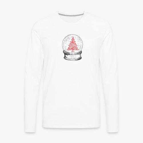 Crystal snow globe | Geeky christmas tree - Men's Premium Longsleeve Shirt