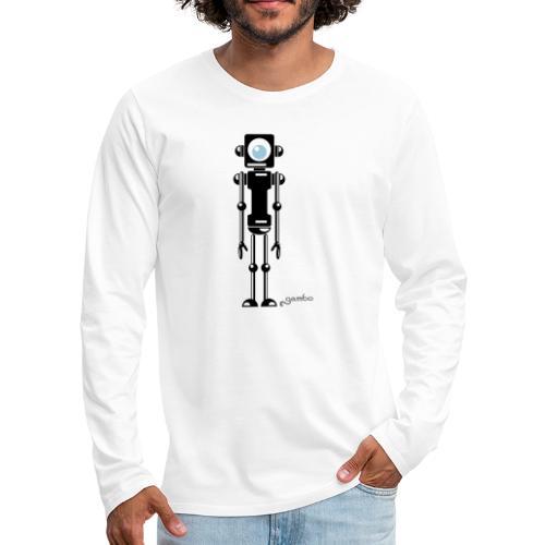 gambots roboter 04 - Männer Premium Langarmshirt