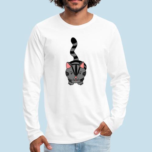 Miau Katze - Männer Premium Langarmshirt