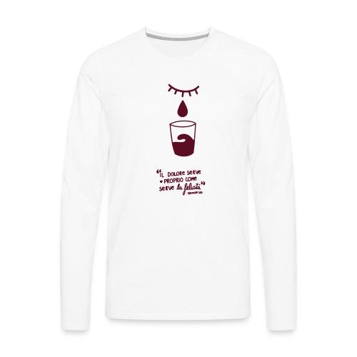dolore-felicità - Maglietta Premium a manica lunga da uomo