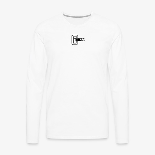 thiccc logo White - Men's Premium Longsleeve Shirt