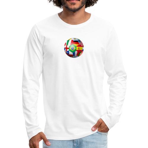 Brasil Bola - Men's Premium Longsleeve Shirt