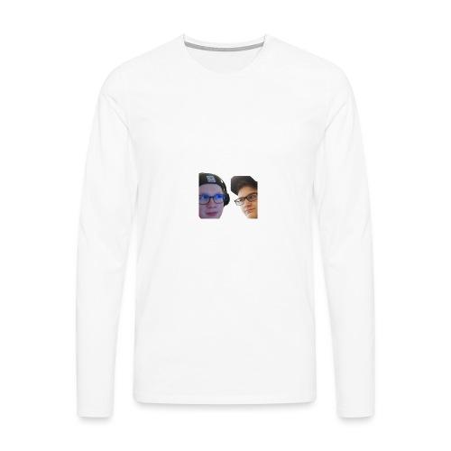 Ramppa & Jamppa - Miesten premium pitkähihainen t-paita