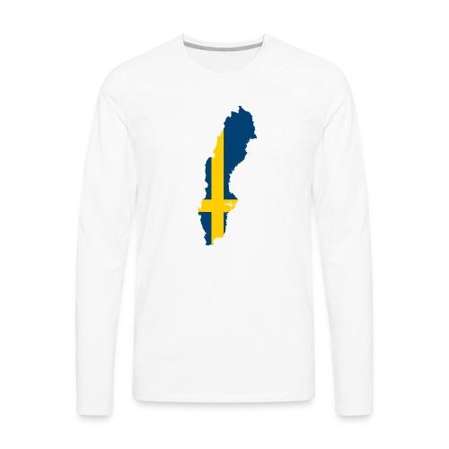 Sweden - Mannen Premium shirt met lange mouwen