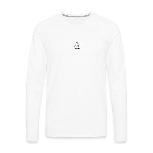 sarcástic? - Camiseta de manga larga premium hombre