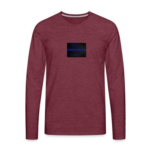 jerkku - Miesten premium pitkähihainen t-paita