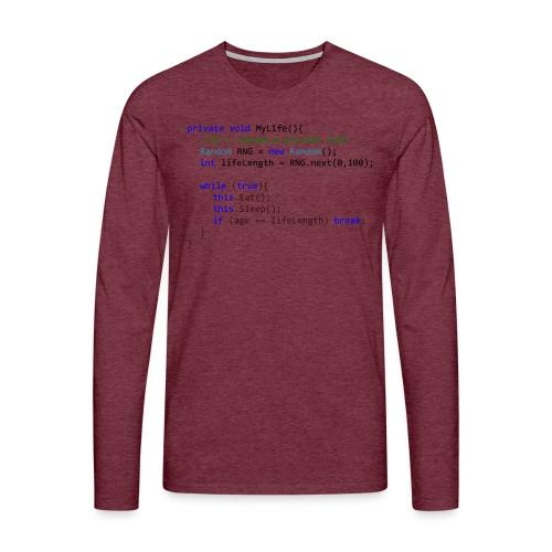 My Life C# - Maglietta Premium a manica lunga da uomo