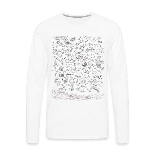 Motifs sur t shirt - T-shirt manches longues Premium Homme