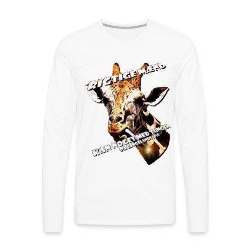 giraftunge3 gif - Herre premium T-shirt med lange ærmer
