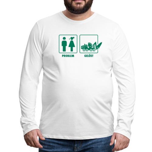 Forst   Problem gelöst - Männer Premium Langarmshirt