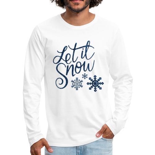Let il snow Noël New shape fane design vintage - T-shirt manches longues Premium Homme