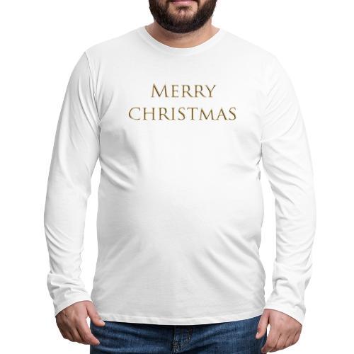 merry christmas - T-shirt manches longues Premium Homme