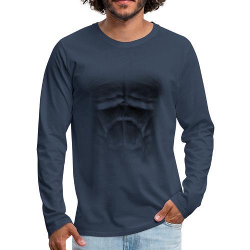 echt muskeln dark - Männer Premium Langarmshirt