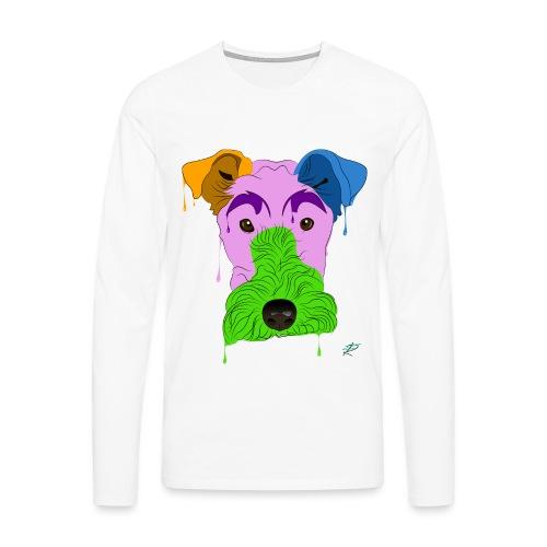 Fox Terrier - Maglietta Premium a manica lunga da uomo