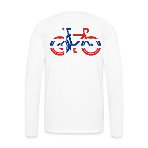 Sykkel med norsk flagg - Premium langermet T-skjorte for menn
