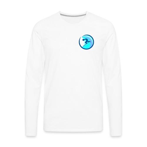 rrsurffimusta - Miesten premium pitkähihainen t-paita