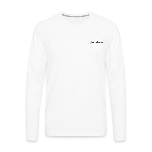 Utsidan logotyp - Långärmad premium-T-shirt herr