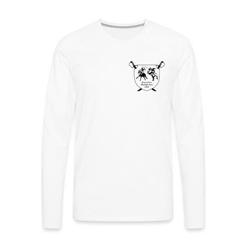 logo miekat läpinäkyvä - Miesten premium pitkähihainen t-paita