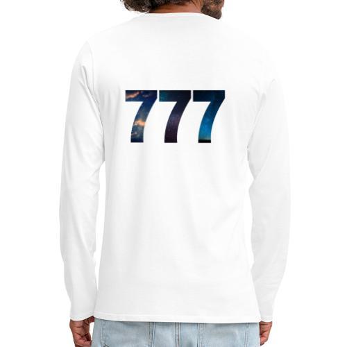 777 un nombre qui apporte chance et spiritualité - T-shirt manches longues Premium Homme