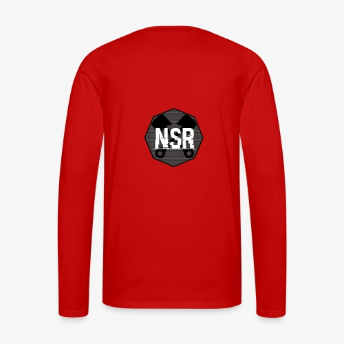 NSR B/W - Miesten premium pitkähihainen t-paita