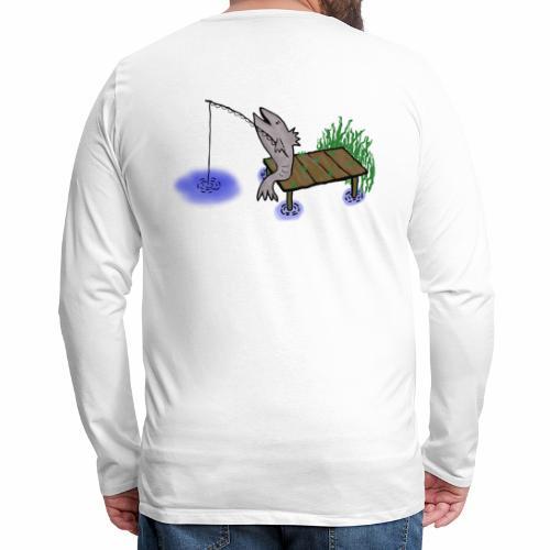 Fisch, Angler,Teich - Männer Premium Langarmshirt