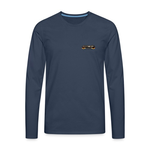 GRG Logo with URL png - Männer Premium Langarmshirt