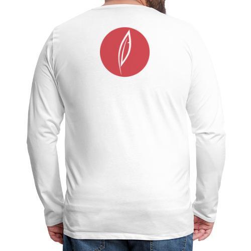 Logo - Rond rouge (dos) - T-shirt manches longues Premium Homme