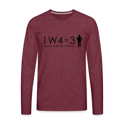 1W4 3L - Männer Premium Langarmshirt