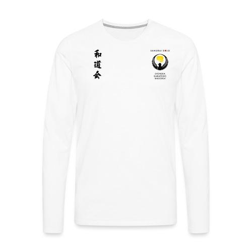 KKSD 3sides white - Långärmad premium-T-shirt herr