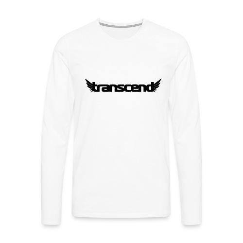 Transcend T-Shirt - Men's - Neon Yellow Print - Men's Premium Longsleeve Shirt