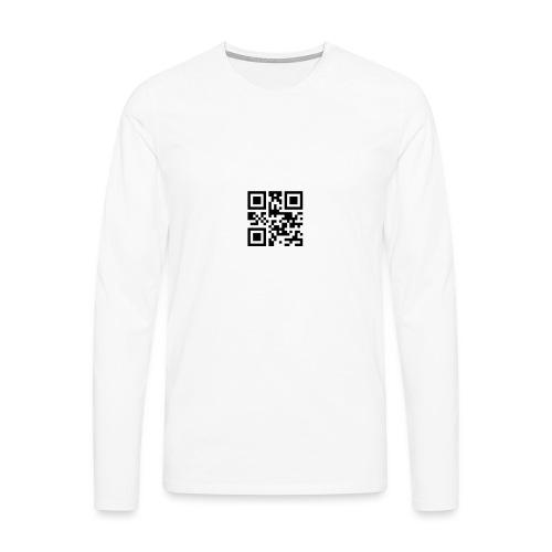Sono Single QR Code - Maglietta Premium a manica lunga da uomo