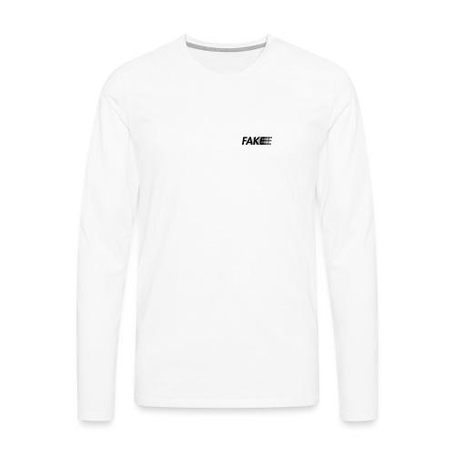 fake logo corruped - Maglietta Premium a manica lunga da uomo
