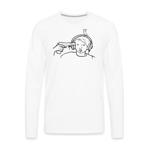 kys valkoinen - Miesten premium pitkähihainen t-paita