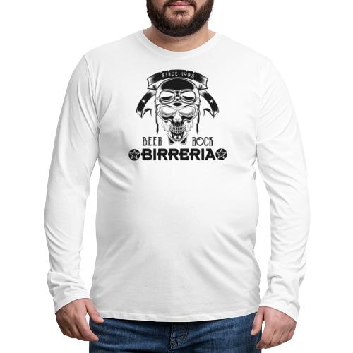 Classic Birreria Rock Skull - Männer Premium Langarmshirt