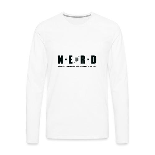 NERD BLACK - Herre premium T-shirt med lange ærmer