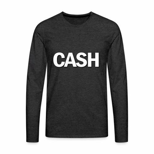 CASH png - Herre premium T-shirt med lange ærmer