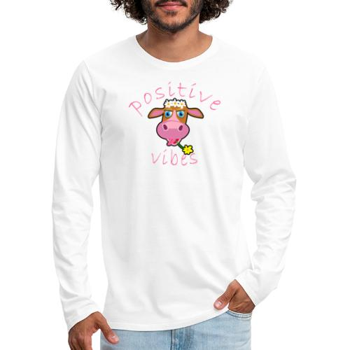 positive cow pink - Maglietta Premium a manica lunga da uomo