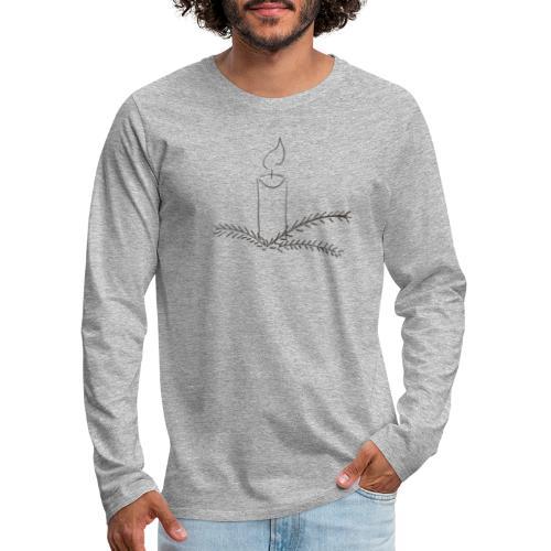 Klar til jul - Herre premium T-shirt med lange ærmer