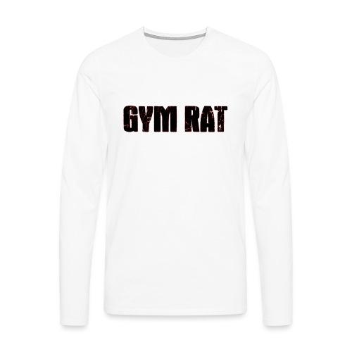 Gymrat - Långärmad premium-T-shirt herr