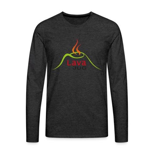 logo lavajug black - T-shirt manches longues Premium Homme